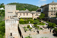 Machuca Patio in the Alhambra - Granada - Spain Royalty Free Stock Photography