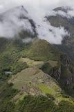 Machupicchu citadell med det Machupicchu berget Arkivfoton