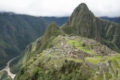 Machupichu landskap royaltyfri bild