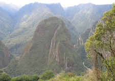 Machupichu-Vista do vale   imagens de stock royalty free
