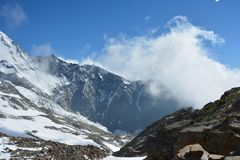 Maciço de Mont Blank fotos de stock royalty free