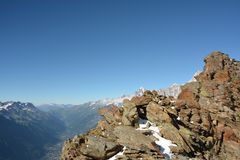 Maciço de Mont Blank foto de stock royalty free