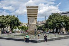 Macia Monument in Plaza Cataluna Royalty Free Stock Photography
