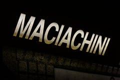 Maciachini Italy Tram Stop Subway Underground Dark Letters Name Stock Image