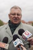 Maciej Jankowski, στίλβωση κάτω από το Υπουργό Εξωτερικών για το Υπουργείο Στοκ εικόνα με δικαίωμα ελεύθερης χρήσης