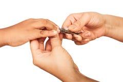 Macierzyści tnący paznokcie Zdjęcie Stock