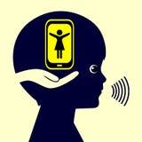 Macierzysta dziecko komunikacja ilustracja wektor