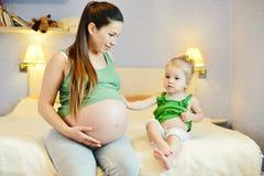 Macierzysta i dziecko jej córka Obrazy Royalty Free