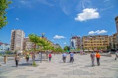 Macierzysta Teresa ulica w Pristina obraz royalty free