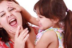 Macierzysty bawić się z jej córką Fotografia Royalty Free