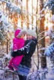 macierzysty dziewczynka portret Fotografia Stock