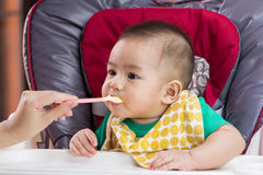 Macierzysty karmienie jej dziecko Obrazy Royalty Free