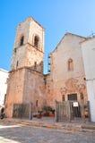Macierzysty kościół Polignano klacz Puglia Włochy Obraz Stock