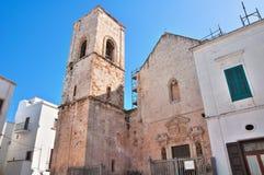 Macierzysty kościół Polignano klacz Puglia Włochy Obrazy Stock