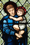 Macierzysty Mary z Jezus w ona ręki zdjęcia stock