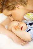 macierzysty syn Zdjęcie Royalty Free