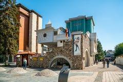 Macierzysty Theresa ` s pamiątkowy kościół w centrum miasta Skopje obraz stock