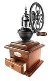 Macinacaffè antiquato isolato su bianco Fotografie Stock