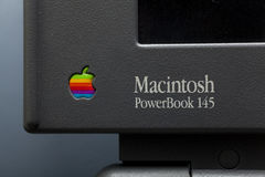 Macintosh power book 145. Old Macintosh computer named power book 145 stock images