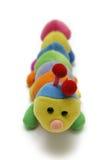 Macio-brinquedo da lagarta da criança fotografia de stock royalty free