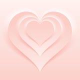 Macio e claro - cor cor-de-rosa Valentine Day Backdrop ilustração royalty free