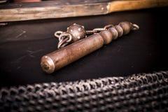Macis medievais do ferro com pontos Fotos de Stock Royalty Free
