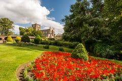 Macizo de flores en Hexham Fotografía de archivo libre de regalías