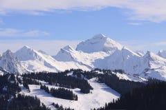 Macizo de la montaña Fotografía de archivo