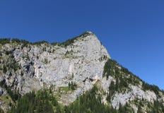 Macizo de la montaña, bosque verde y cielo azul fotografía de archivo libre de regalías