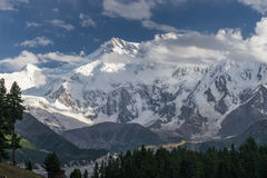 Macizo de la montaña de Nanga Parbat en el prado de hadas, Chilas, Bal de Gilgit imagenes de archivo