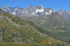Macizo de Mont Blanc fotografía de archivo