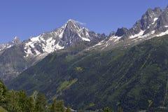 Macizo de Mont Blanc en Francia imagenes de archivo