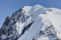 Macizo de Mont Blanc en las montañas francesas fotografía de archivo libre de regalías