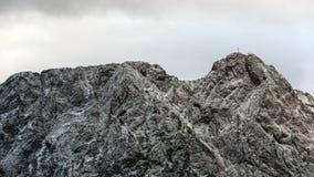 Macizo Giewont de la montaña en las montañas occidentales de Tatra foto de archivo