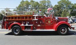 1950 Mack fire truck from Huntington Manor Fire Department Stock Photos