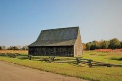 Mackall Tobacco Barn built in 1785 royalty free stock photography
