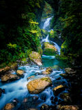 Mackay Falls in Milford track, New Zealand.  Royalty Free Stock Photography