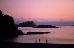 Mackenzie beach at sunset Stock Photos