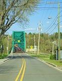 MacKenzie Bridge In Richmond storico /Melbourne, Quebec fotografia stock libera da diritti