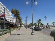 Mackenzie Quay in Cyprus, Larnaca city. royalty free stock images