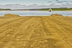 MacKenzie River ferry Stock Photography