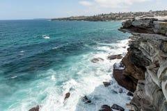 Mackenzies Point way in Sydney, Australia. Close to Bondi Beach. Bondi to Bronte Coastal Walk Stock Photo