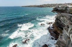 Mackenzies Point way in Sydney, Australia. Close to Bondi Beach. Bondi to Bronte Coastal Walk Royalty Free Stock Photos