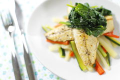 Mackerek meal with utensil Stock Images