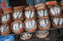 Mackerel basket Royalty Free Stock Images