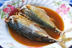Mackerel boiled soup asian style Royalty Free Stock Photography