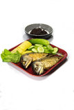 Mackerel with chili. Famous diet of  the prefect of Thaiand Stock Photos