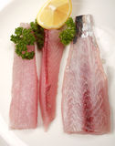 Mackerel fillets from above Stock Photo