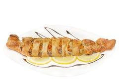 Mackerel fillets baked in Royalty Free Stock Image