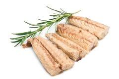 Mackerel fillets isolated on white Stock Photos